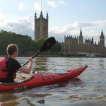 Chelsea Kayak Club - paddling on the Thames via the Houses of Parliament
