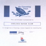 The British Canoe Union (BCU) issued CKC with a certificate of merit for hosting a 'Go Canoeing Day' in 2011